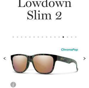 Nwt SMITH  lowdown slim 2sunglasses rose gold lens